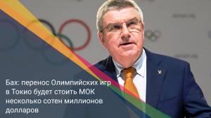 Бах: перенос Олимпийских игр в Токио будет стоить МОК несколько сотен миллионов долларов