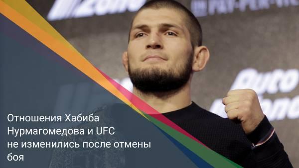 Отношения Хабиба Нурмагомедова и UFC не изменились после отмены боя