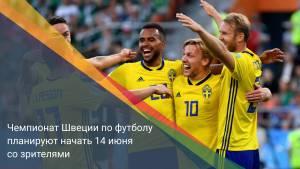 Чемпионат Швеции по футболу планируют начать 14 июня со зрителями