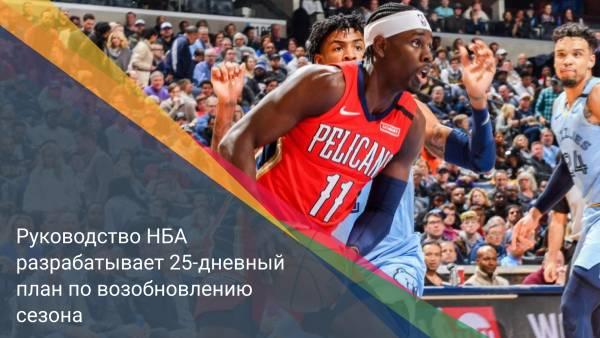 Руководство НБА разрабатывает 25-дневный план по возобновлению сезона