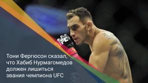 Тони Фергюсон сказал, что Хабиб Нурмагомедов должен лишиться звания чемпиона UFC