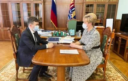 Губернатор Ивановской области встретился с уполномоченным по правам человека