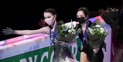 Щербакова и Туктамышева победили в короткой программе на командном чемпионате мира
