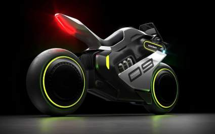 Компания Segway представила концепт водородно-электрического мотоцикла Apex H2