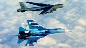 ВВС США оценили перехват американского В-52 российскими Су-27