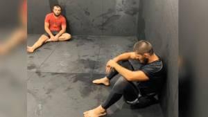 Нурмагомедов показал свою подготовку к бою с Гэтжи