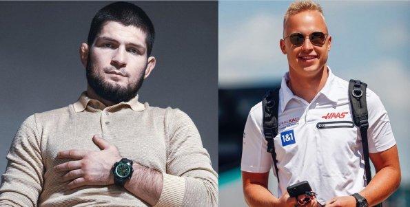 Боец Хабиб Нурмагомедов опубликовал фото с автогонщиком Никитой Мазепиным