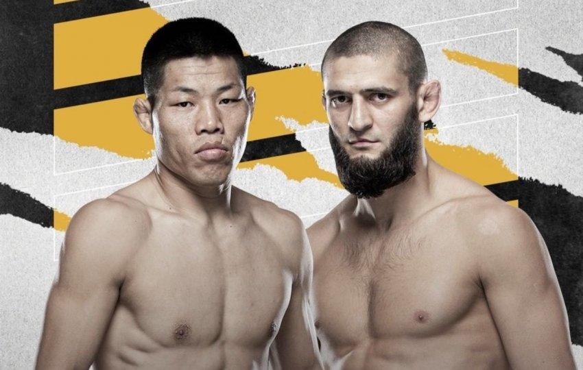 Боец Хамзат Чимаева встретится с Ли Джинлиангом в рамках турнира UFC 267