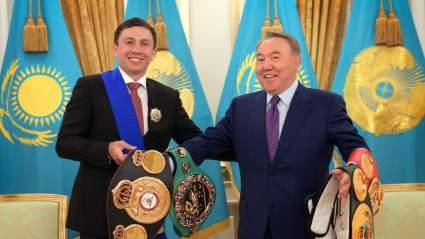 Президент Казахстана Назарбаев заявил, что страна гордится Головкиным после его победы над Шереметой