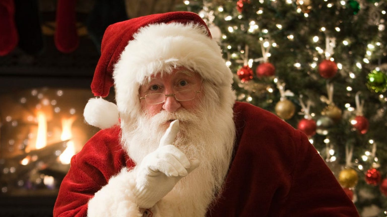 Ребенок пустился в слезы из-за Санта-Клауса