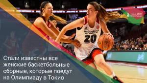 Стали известны все женские баскетбольные сборные, которые поедут на Олимпиаду в Токио
