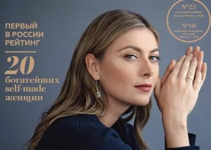 Шарапова попала на обложку журнала Forbes Woman