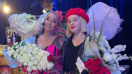 15-летняя дочь Анастасии Волочковой Ариадна спела на спектакле мамы в леопардовой юбке и косухе