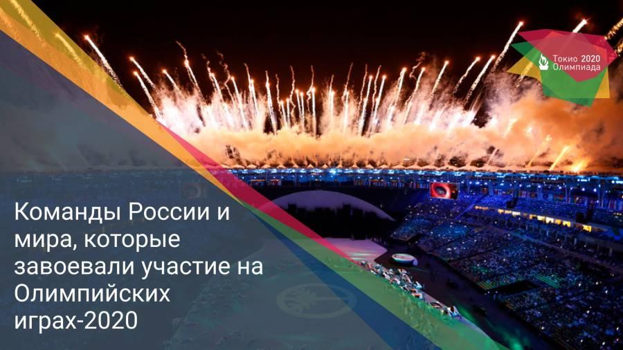Команды России и мира, которые завоевали участие на Олимпийских играх-2020