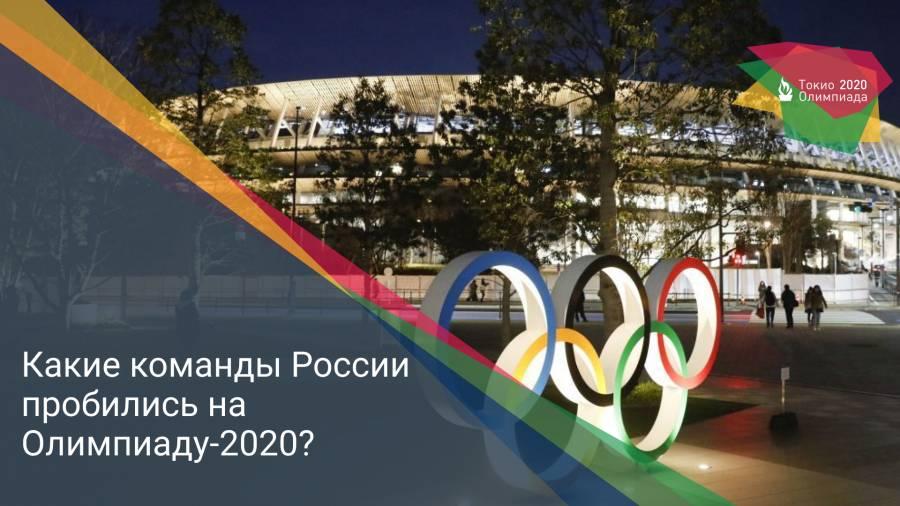 Какие команды России пробились на Олимпиаду-2020?