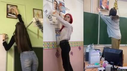 Полиция начала опрашивать школьников, которые снимают портреты Владимира Путина