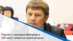 Редькин: с приходом Майгурова в СБР могут появиться новые ресурсы