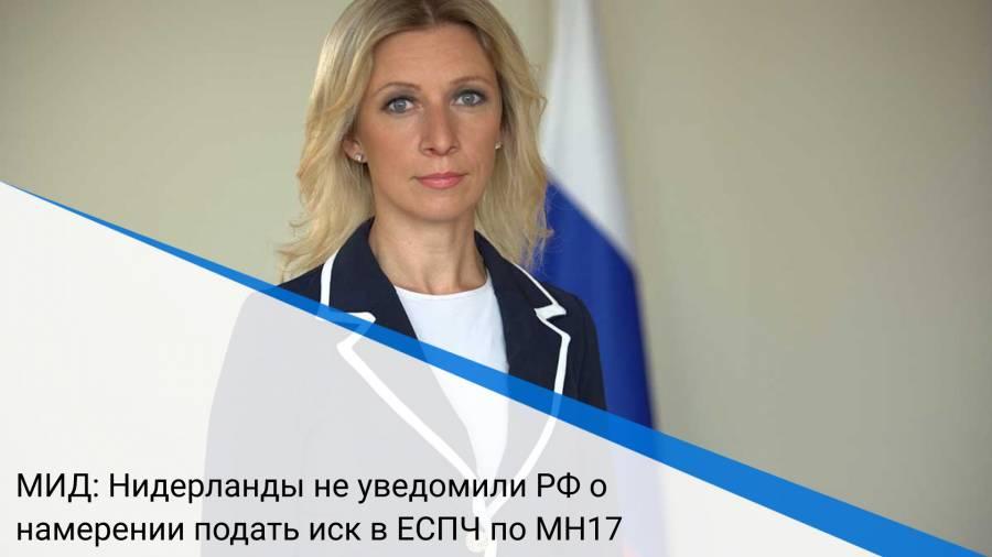 МИД: Нидерланды не уведомили РФ о намерении подать иск в ЕСПЧ по MH17