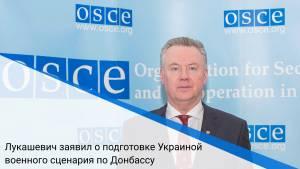 Лукашевич заявил о подготовке Украиной военного сценария по Донбассу