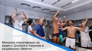 Милонов отреагировал на видео с Дзюбой и Азмуном в раздевалке «Зенита»