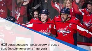 НХЛ согласовала с профсоюзом игроков возобновление сезона 1 августа