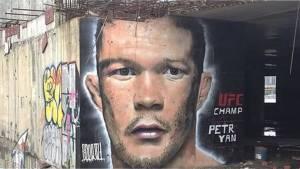В Москве появилось граффити с изображением чемпиона UFC Петра Яна