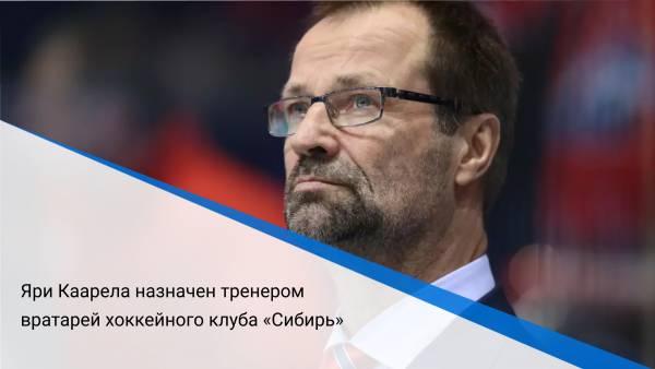 Яри Каареланазначен тренером вратарей хоккейного клуба «Сибирь»