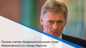 Песков считает бездоказательными слова Жириновского по поводу Фургала