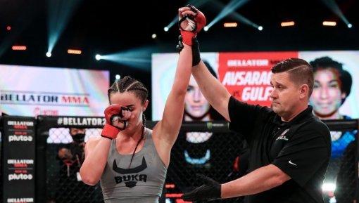 Российская девушка-боец Bellator Авсарагова одержала вторую победу в промоушене
