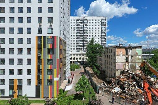 В Москве были расселены первые 100 домов по программе реновации
