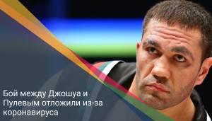 Бой между Джошуа и Пулевым отложили из-за коронавируса