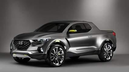 Компания Hyundai в США вывела тесты пикапа Santa Cruz