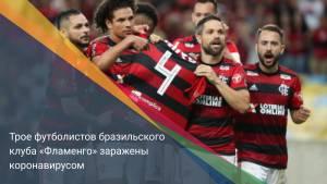 Трое футболистов бразильского клуба «Фламенго» заражены коронавирусом