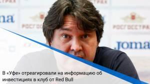 В «Уфе» отреагировали на информацию об инвестициях в клуб от Red Bull