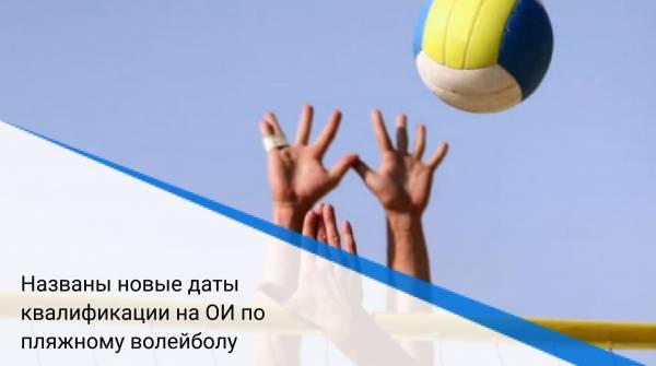 Названы новые даты квалификации на ОИ по пляжному волейболу