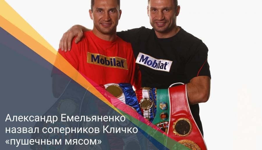 Александр Емельяненко назвал соперников Кличко «пушечным мясом»