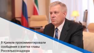 В Кремле прокомментировали сообщения о взятке главы Россельхознадзора