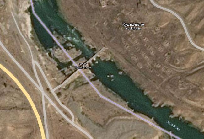 Худаферинский мост на карте, e-news.su