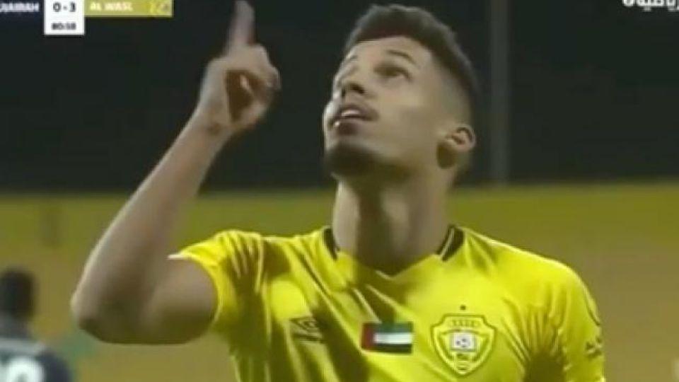 Футболист изобразил Нурмагомедова после забитого гола