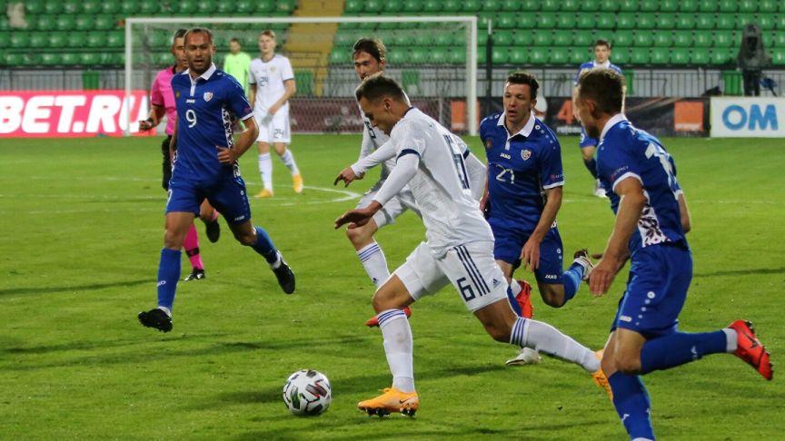 Сборная РФ по футболу сыграла вничью с Молдавией в товарищеском матче
