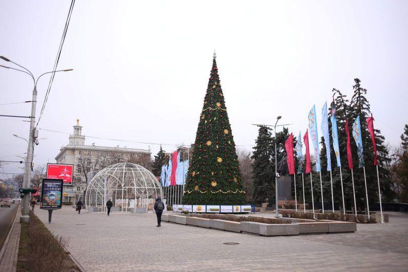 В Ростове установят новогоднюю елку у парка Горького и откроют ее в онлай-формате