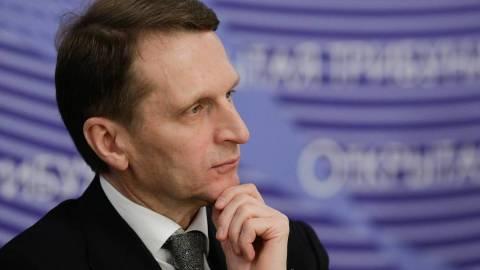 Нарышкин заявил о естественном происхождении коронавируса