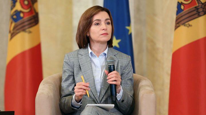 Санду выступила за вывод российских войск из Приднестровья