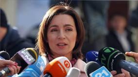 Санду лидирует с 35,94% голосов на выборах президента Молдавии