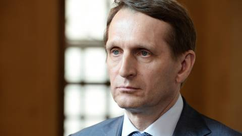 Нарышкин назвал Навального сакральной жертвой западных спецслужб