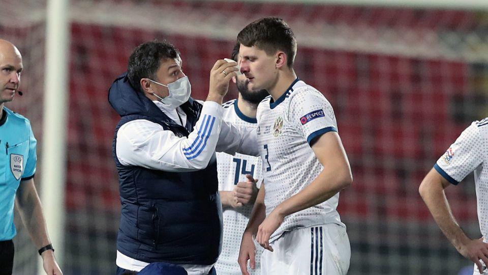 У защитника ЦСКА Дивеева диагностированы серьезные повреждения после игры с сербами