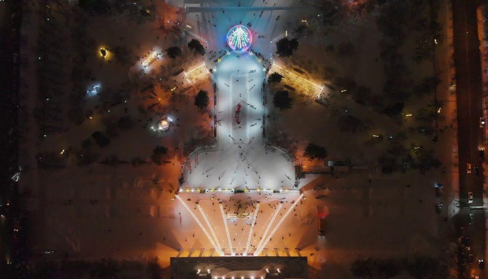 Власти Новосибирска решили оставить каток в форме пениса