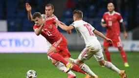 Сборная России по футболу сыграла вничью с Венгрией в матче Лиги Наций