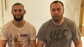 Хамзат Чимаев провёл тренировку с главным тренером бойцовского клуба «Ахмат»