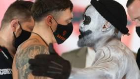Чисора в образе призрака пришел на церемонию взвешивания перед боем с Усиком